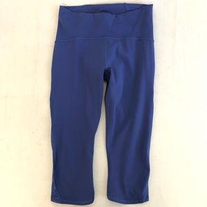 Lululemon Capris Leggings Cobalt Blue Mesh Yoga 8